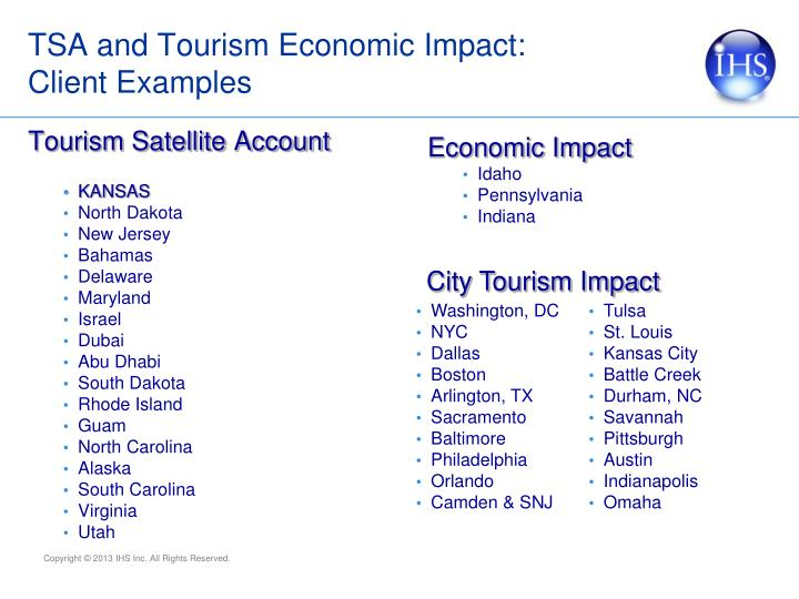 TSA and Tourism Economic