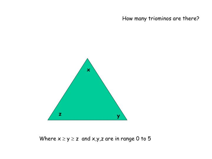 How many triominos are there?
