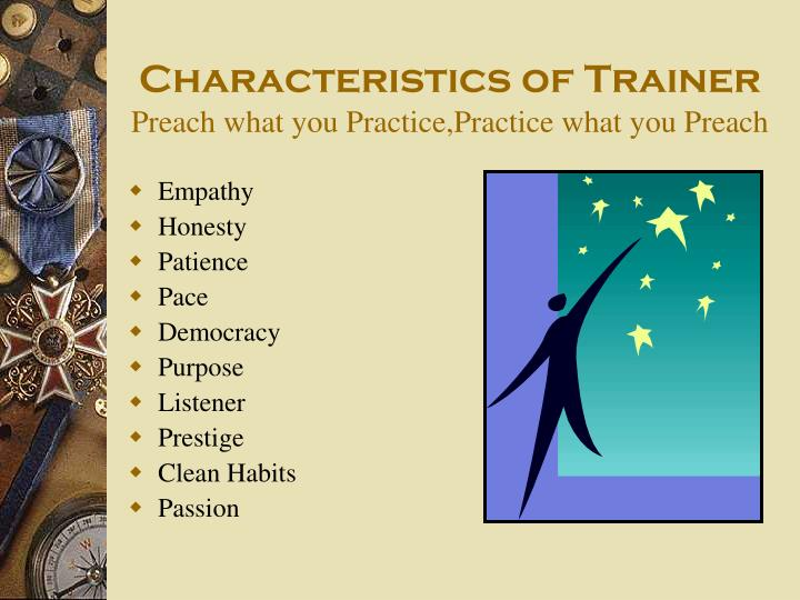 Characteristics of Trainer