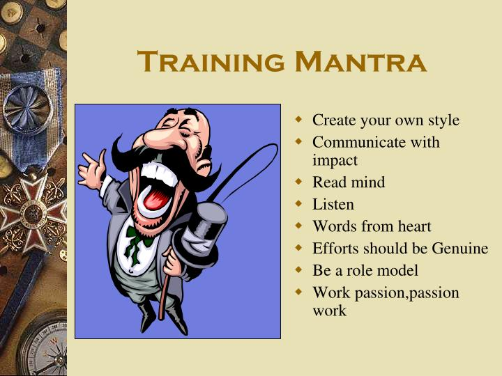 Training Mantra