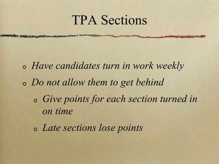 TPA Sections