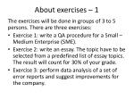 about exercises 1
