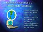 example hypermedia multimedia products