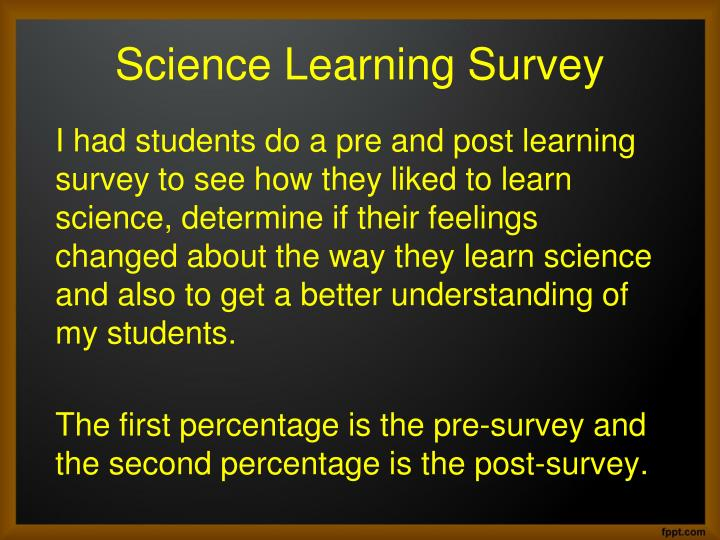 Science Learning Survey