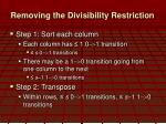 removing the divisibility restriction