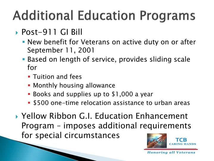 Additional Education Programs