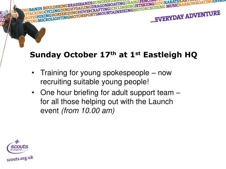 Sunday October 17