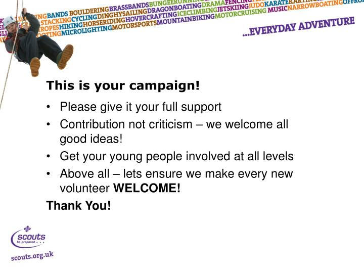 This is your campaign!