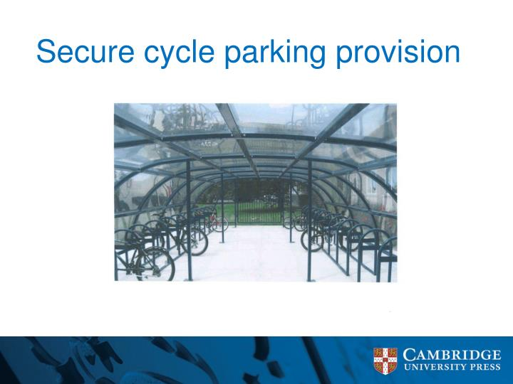 Secure cycle parking provision