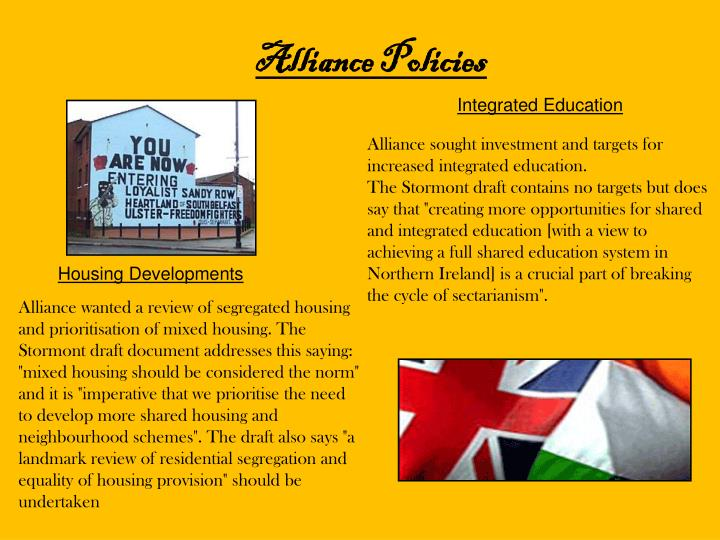 Alliance Policies