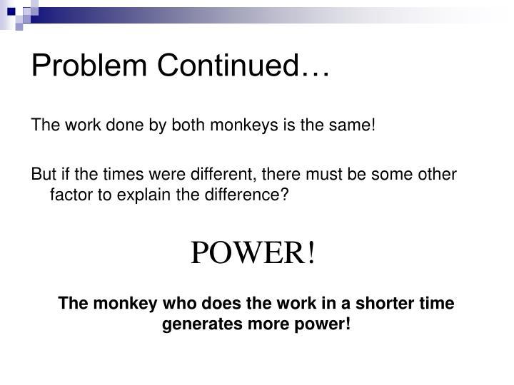 Problem Continued…