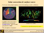 solar convection surface waves