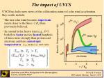 the impact of uvcs