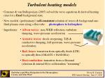 turbulent heating models