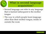 what is second language acquisition