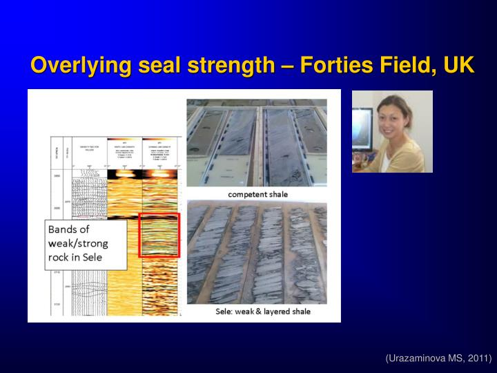 Overlying seal strength – Forties Field, UK