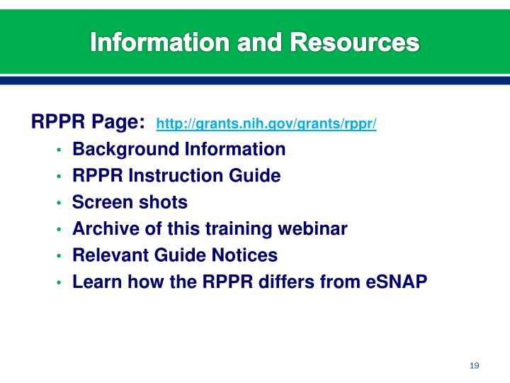 RPPR Page:
