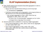 olap implementation cont