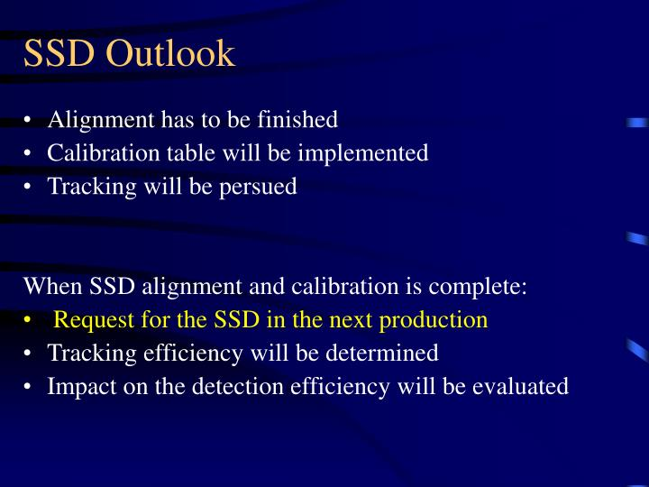 SSD Outlook