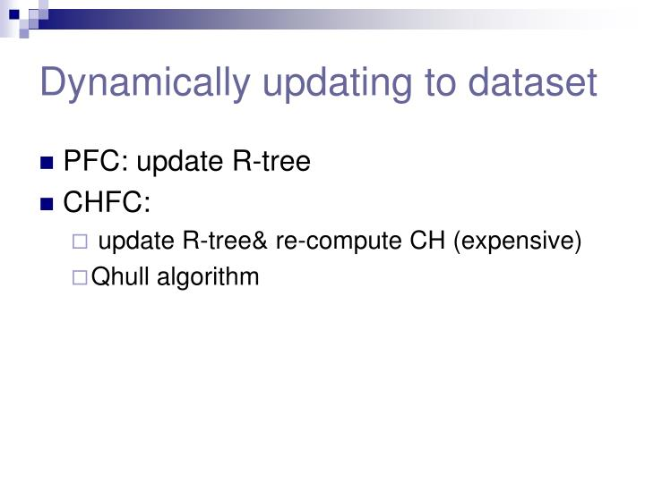 Dynamically updating to dataset