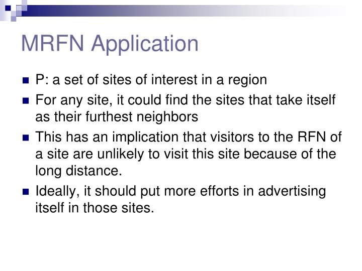 MRFN Application