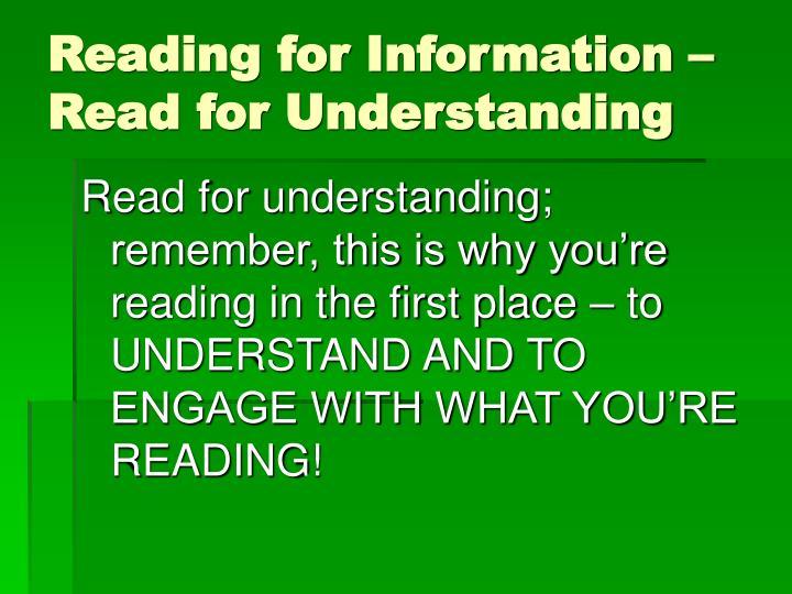 read mechanisms