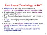 basic layout terminology in swt1
