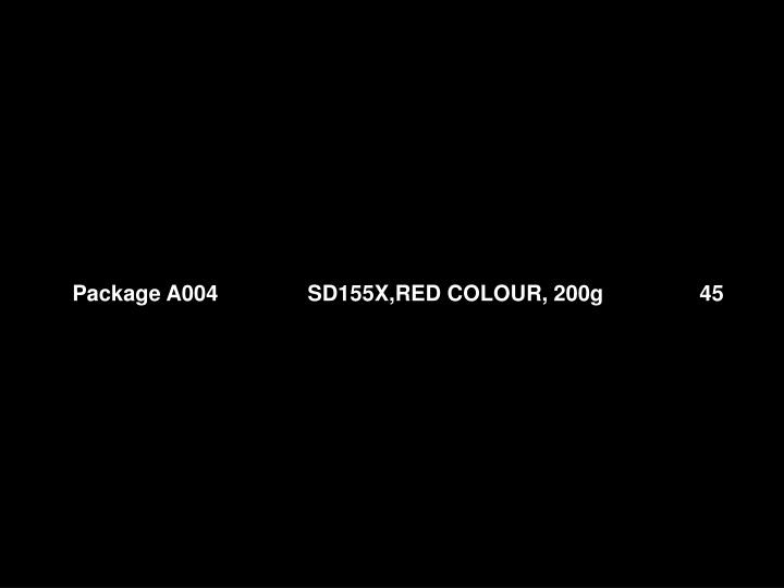 Package A004 SD155X,RED COLOUR, 200g 45