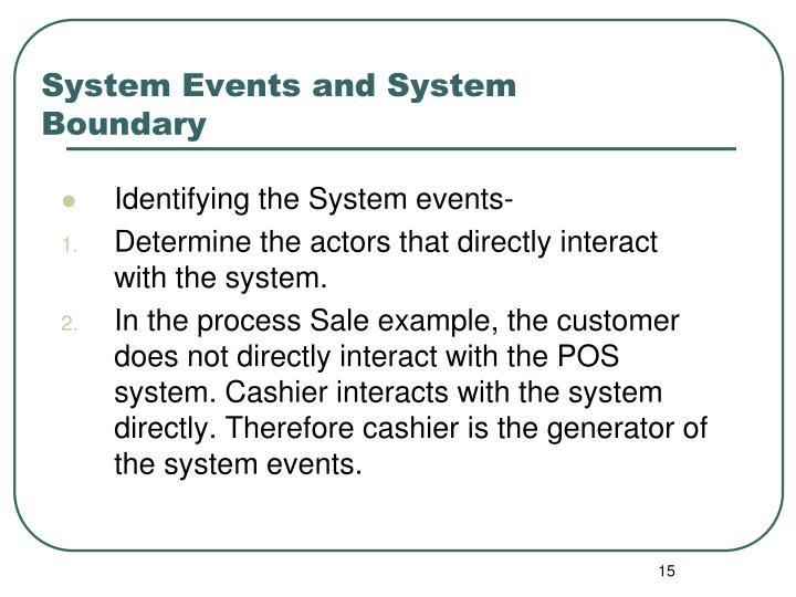 System Events and System Boundary