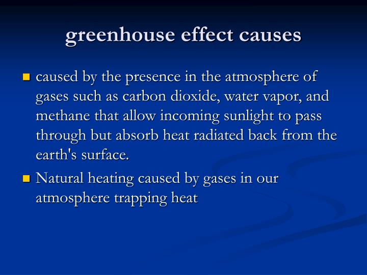 causes of greenhouse effect pdf
