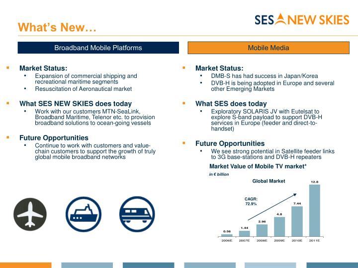 Market Value of Mobile TV market*