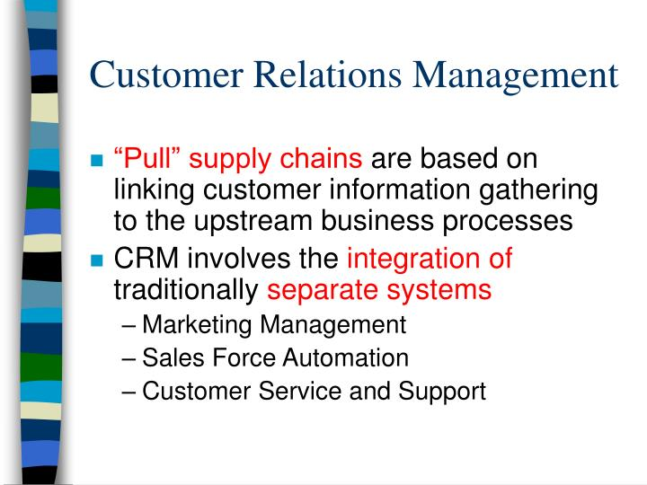Customer Relations Management