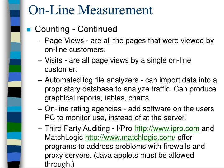 On-Line Measurement