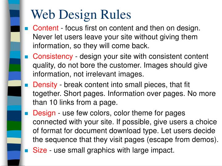 Web Design Rules