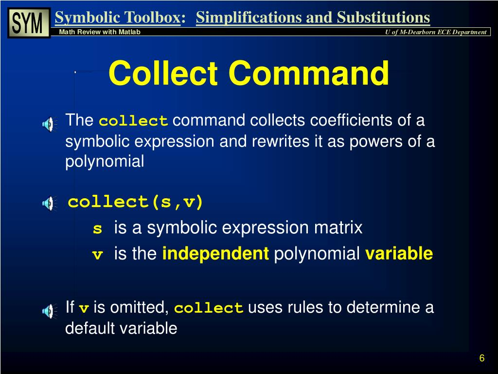 PPT - Symbolic Math Toolbox PowerPoint Presentation - ID:6887560