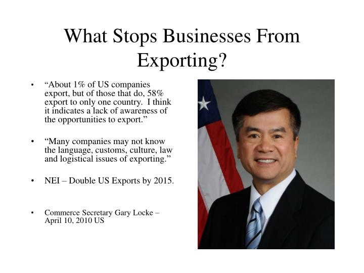 What stops businesses from exporting
