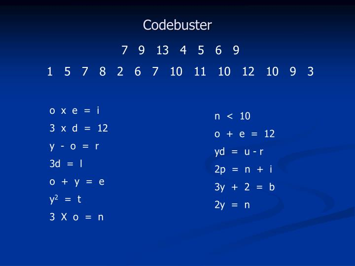 Codebuster