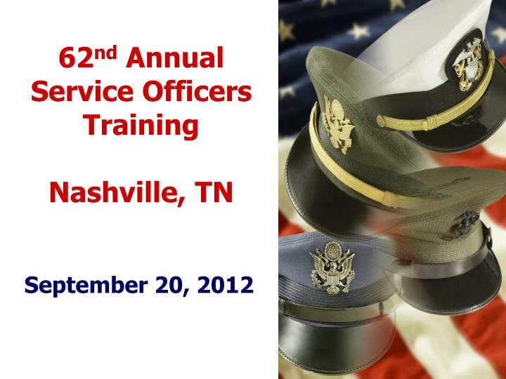 62 nd annual service officers training nashville tn n.