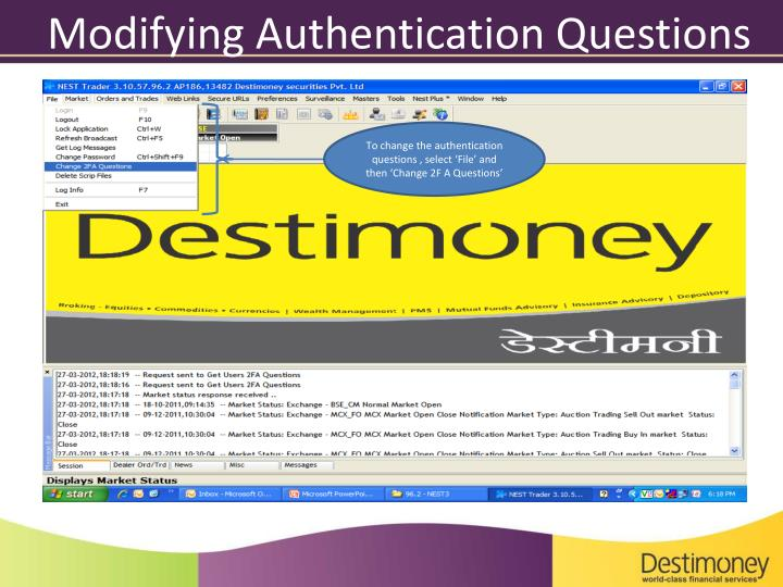 Modifying Authentication Questions