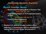 optimizing obstetric practices