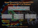 single dose nvp plus standard zdv to prevent mtct in thailand