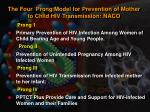 the four prong model for prevention of mother to child hiv transmission naco