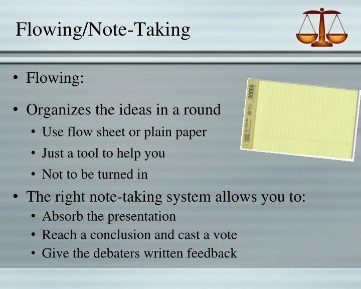 Flowing/Note-Taking