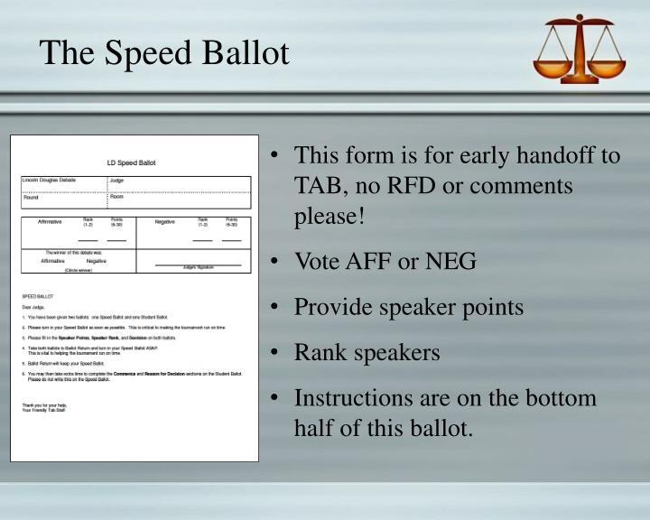 The Speed Ballot