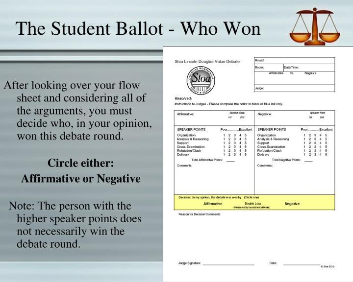 The Student Ballot - Who Won
