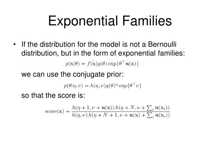 Exponential Families
