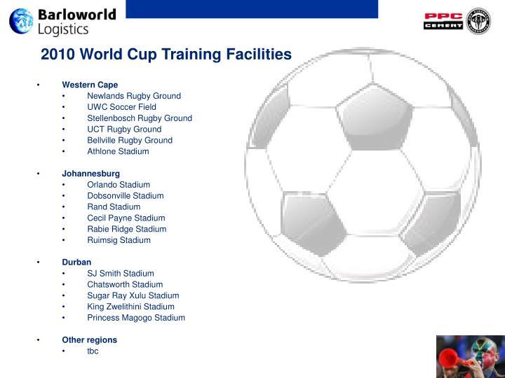 2010 World Cup Training Facilities