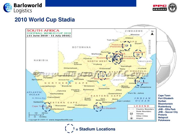 2010 World Cup Stadia