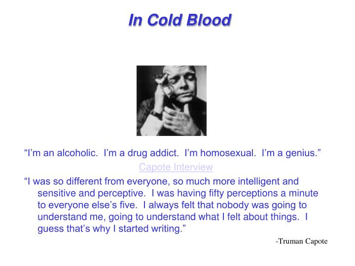 good essay questions for in cold blood
