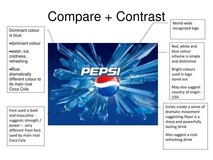 Coca cola pepsi compare contrast